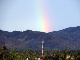 Melaque rainbow over the mountains