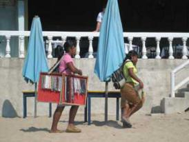 Mexico Resort - Some of the beach vendors that sell their wares on the beaches of the Costalegre