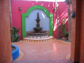 Mexican Tiles and Fountain