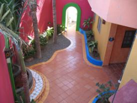 Mexico Vacations Colorful resort walkway