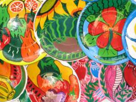 Mexico Resort - local hand painted plates and pottery